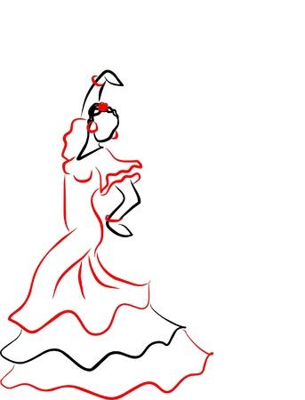gitana: un bailar�n de sevilles Vectores