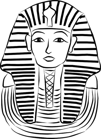 egyptian: sarcophagus of egyptian pharaoh Illustration