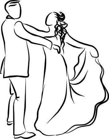 a couple dancing a waltz at her wedding