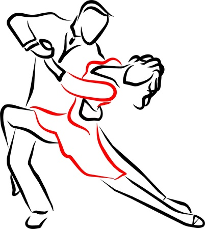 tango dance: a couple dancing a tango passionately on a show