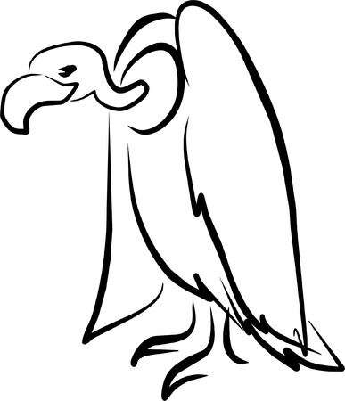vulture perched waiting for his next meal Vector