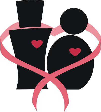 symbol of love between a man and a woman Иллюстрация
