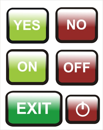 denial: several buttons for use in design