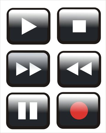 several buttons of a remote control Vector