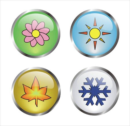 bottons: bottons with icons of the four seasons