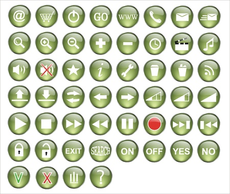 green button pack for web design  Stock Vector - 9502640