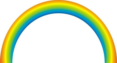 vectorized: Arco Iris vectorizada de colores Vectores