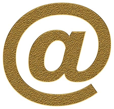 arroba: arroba in golden color