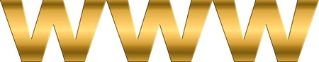internet symbol in gold letters photo