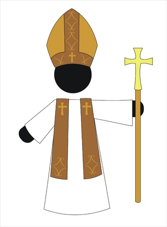 the pope with a crucifix and a robe Stock Vector - 9881994