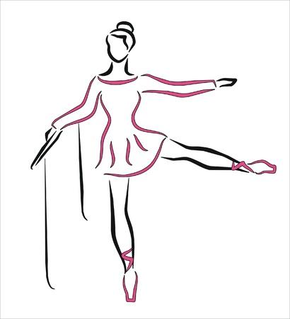 ballerina dancing with pink dress