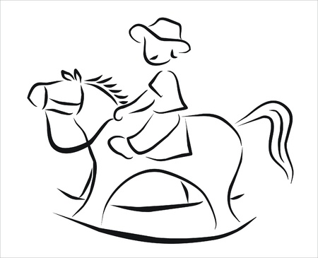 boy playing on a rocking horse