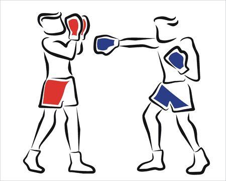 adversaire: deux boxeurs dans un championnat Illustration