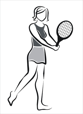 tennis skirt: girl playing tennis