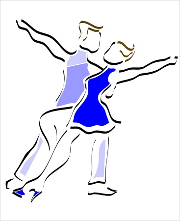 man and woman dancing in a show  Stock Vector - 12884219