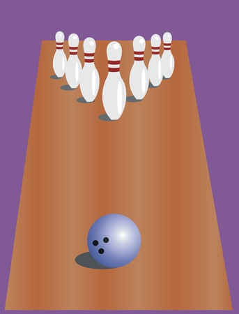 bowling alley  bowling and ball Vector