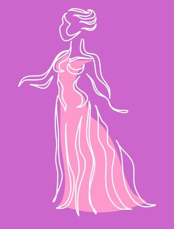 tied girl: silhouette of woman representing femininity