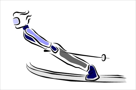 piste: skier in a jumping competition