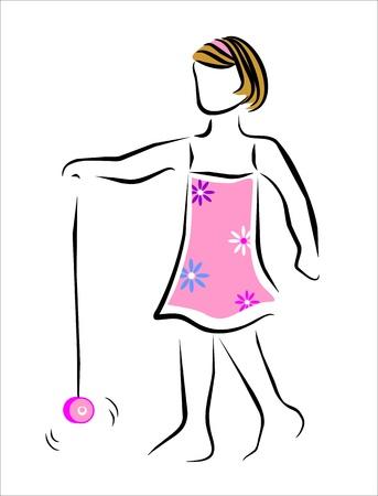 descendants: girl playing with her yo-yo
