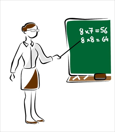 memorize: school teacher in math teaching