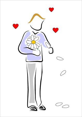 delusion: lover boy defoliating a daisy