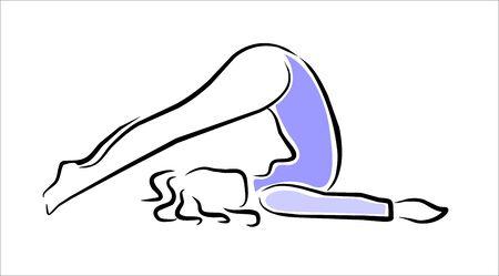 Woman performing a yoga posture Vector