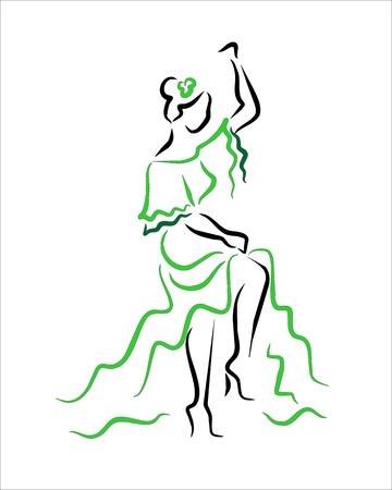 sevillian woman dancing Stock Vector - 14729847