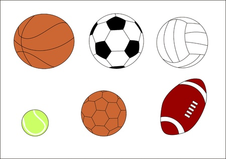 ball on water: different balls for various sports