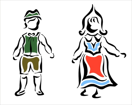 costumes from nordic countries Stock Vector - 15486829