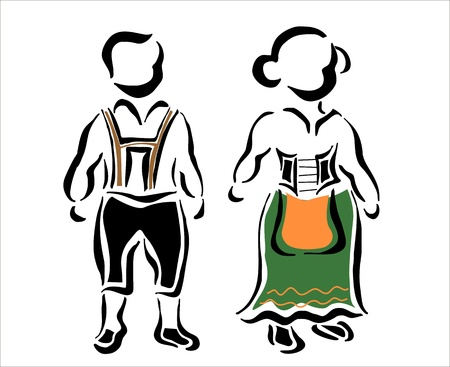 typical: german traditional dress