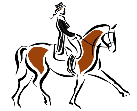 rythme: femme sur un cheval