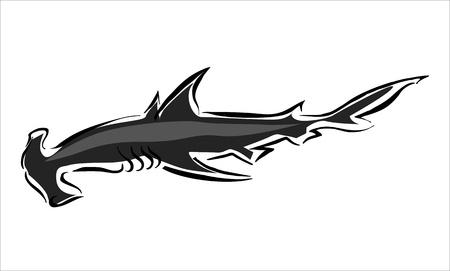 pez martillo: dibujo de un martillo