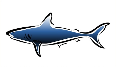 oviparous: drawing of a shark Illustration