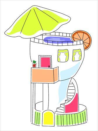 cheerful holiday home imaginary Stock Vector - 15164441