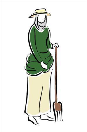 women farmers in the field Stock Vector - 15303453