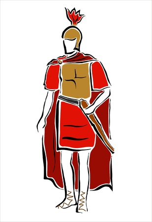 drawing of a roman soldier Stock Vector - 15412574