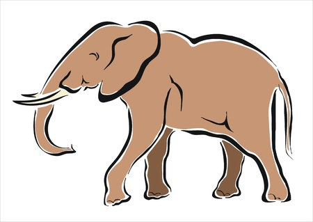 drawing of an african elephant Stock Vector - 19265900