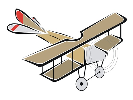 drawing of an old biplane Stock Vector - 19425271
