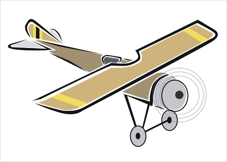 drawing of an old plane Stock Vector - 19425267