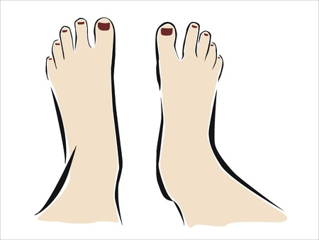 extremity: drawing of two feet