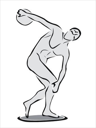 円盤投げの選手の図面