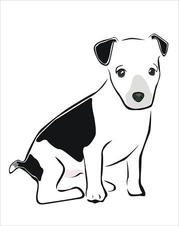 carnivorous: drawing of a dog sitting Illustration