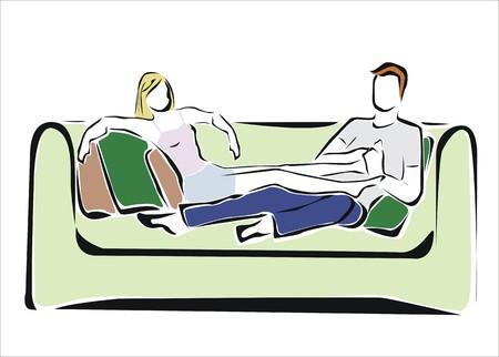duet: couple in love massaging feet