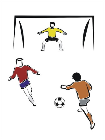 dodge: drawing of a football game