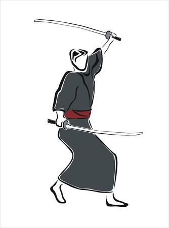 사무라이의 그림 그리기