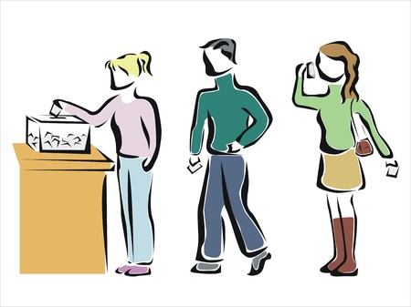 people voting in an elections