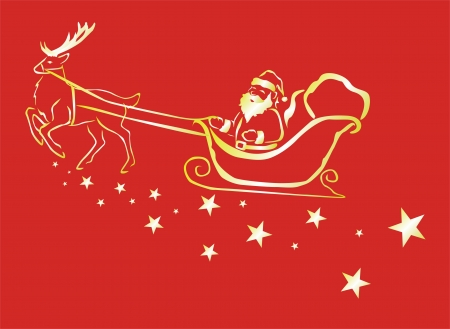 reins: santa claus in the sky for christmas night