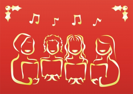 lyric: a chorus singing christmas carol