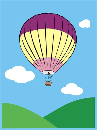 a hot air balloon flying in the sky