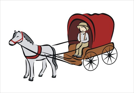 carriage pulled by a horse